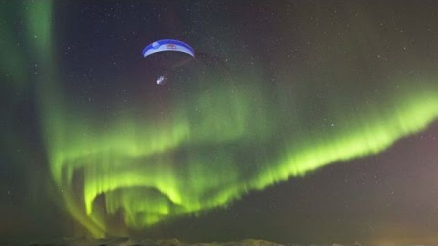 Breathtaking Paraglide Flight Through Aurora Borealis | Horacio Llorens